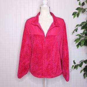Danskin Now Fleece Zip Up Jacket Plus Size